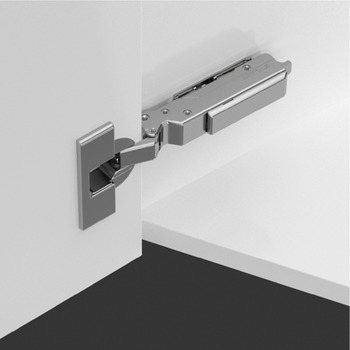 Concealed hinge, Tiomos 120°, overlay, for –45° corner applications