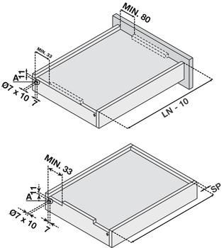 Concealed Undermount Slide, Frameless, Full Extension, Soft