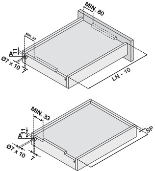 Concealed Undermount Slide, Frameless, Full Extension, Soft Close,75 lbs./Pair