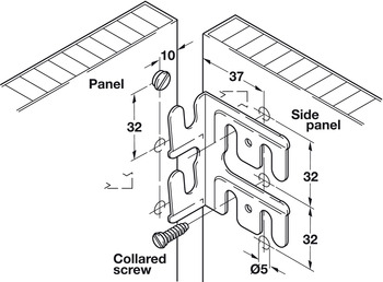 Conncecting Bracket, Topfix Angle