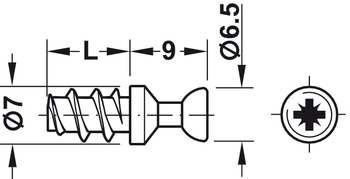 Connecting Bolt, M20, 7.5 mm