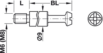 Connecting Bolt, Maxifix® System, with M6 or M8 Thread