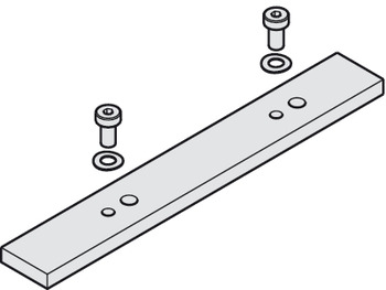 Connecting spacer plate, For running track
