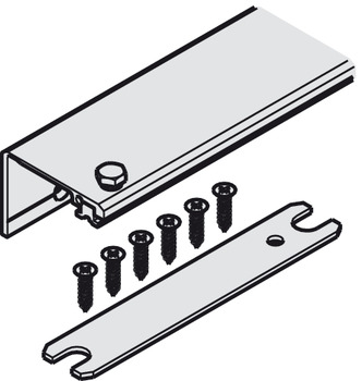 Connector Connecting Profile, 2-Piece set, for 1 pivot sliding door