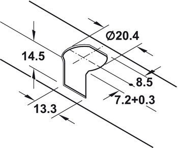 Connector Housing, for Shelf Thickness from 19 mm