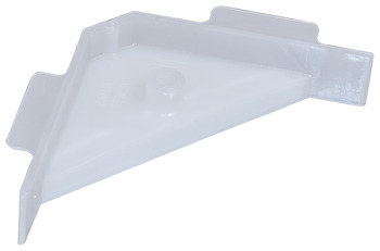 Corner Bracket, Plastic, 67 x 18 mm, with Tabs