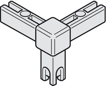 Corner Joint, for basic shelf system, 3-sided