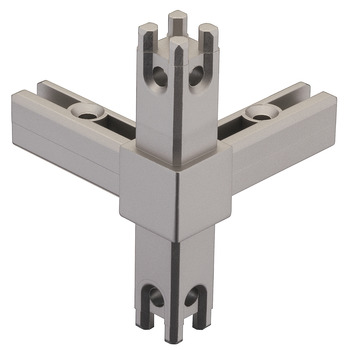 Corner Joint, for multi-level shelf system, 4-sided