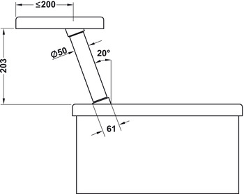 Countertop Support, Angled