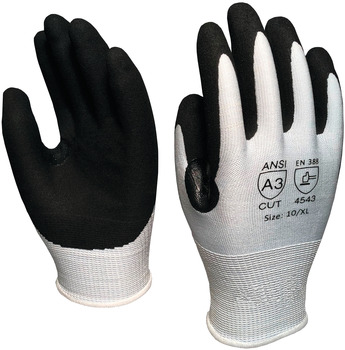 Cut Resistant Glove, Black Nitrile Coated