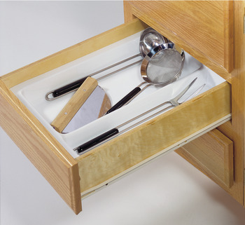 Cutlery Tray, Large Compartment Drawer Insert, Plastic