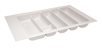 Cutlery Tray, Plastic, White
