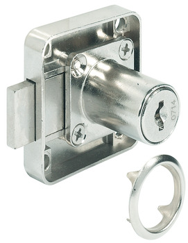 Dead Bolt Rim Lock, with Fixed Plate Cylinder