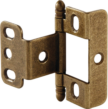 Decorative Butt Hinge, Full Wrap, Non-Mortise, Ball Finial
