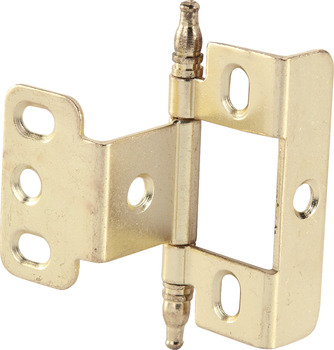 Decorative Butt Hinge, Full Wrap, Non-Mortise, Minaret Finial