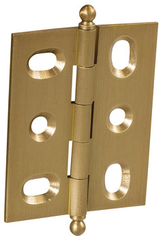 Decorative Butt Hinge, Mortise, Ball Finial