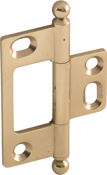 Decorative Butt Hinge, Non-Mortise, Ball Finial