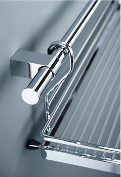 Decorative End Cap, Kitchen Rail System, Polished Chrome