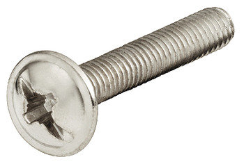 Decorative Hardware Screw, M4, Flat Head, Combination Cross Slot, Nickel Plated
