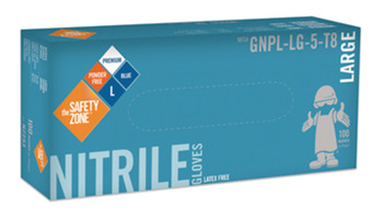 Disposable Gloves, Nitrile, 8 mm, Powder-Free