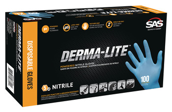 Disposable Gloves, Thin Nitrile, 5 mil, Powder-Free