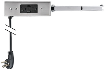 Docking Drawer, 21 Slim, for ≤ 21 Cabinet Depths; with 2 x Outlets and 2 x USB Ports