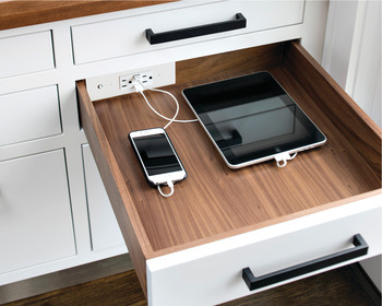 Docking Drawer, Blade 2118, for ≤ 21 Cabinet Depths; with 2 x Outlets and 2 x USB Ports