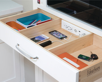 Docking Drawer, Blade with 2 x AC outlets and 2 x USB-A ports