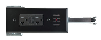 Docking Drawer, Style 18 Flush Powering Outlet, with 4 x AC GFCI Outlets with Thermostat Reset Feature and 2 x USB Ports