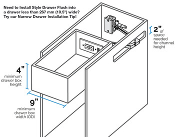 Docking Drawer, Style 21 Flush with 2 x AC GFCI Outlets with Thermostat Reset Feature