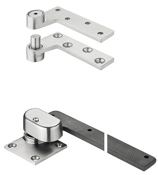 Door Hinge, 19 mm (3/4) Offset Hung Pivot, Top and Bottom Set