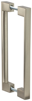Door Pull, Stainless Steel Matt, Back to Back