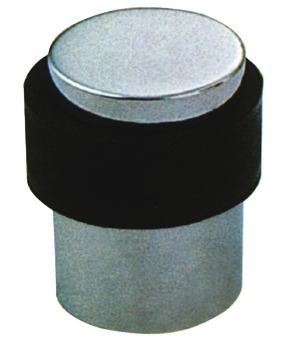 Door Stop, Floor Mounted, Ø 35 mm, Stainless Steel or Aluminum, Rubber Buffer