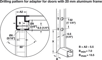 Double Door Lift-Up Fitting, Häfele Free Fold Short