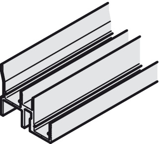 Double Upper Guide Track, Pre-drilled