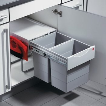 Double Waste Bin Pull-Out, Hailo Space-Saver Tandem