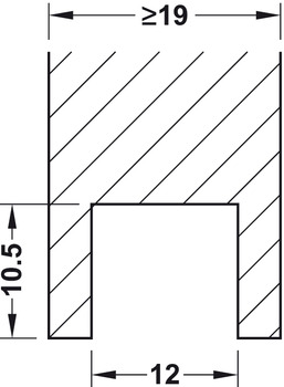 Dovetail Sleeve, for Screw Mounting