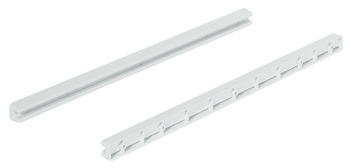 Drawer Guide Rail, for Wire Baskets with Gliding Edge, Plastic