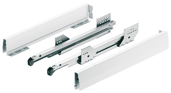 Drawer Side Runner Systems, Häfele MX set, Steel, Drawer Side Height 92 mm, 110 lbs.