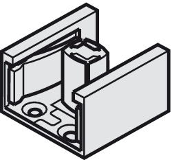 Dual Lower Guide, for 2 Glass Doors