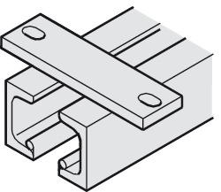 Dual Upper Track, with Mounting Flanges, Ceiling Mounted