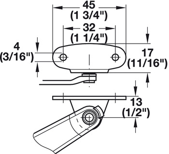 Duo/Maxi Door Bracket, for Face Frame Overlay 5-Piece Door