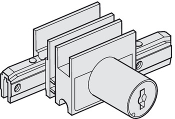 End Cap, With lock for cylinder core, with counterpiece and glass groove