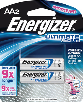 Energizer E2 Ultimate Battery, Lithium, AA,1.5v