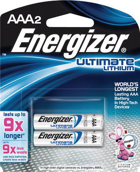 Energizer E2 Ultimate Battery, Lithium, AAA, 1.5v