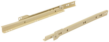 Epoxy Coated Bottom Mounted Slide, 3/4 Extension, Self-Closing, 100 lbs
