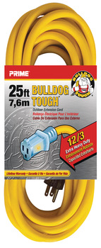 Extension Cord, Bulldog Tough Heavy Duty with Primelight® Indicator Light