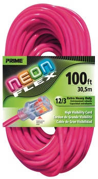 Extension Cord, High Visibility with Primelight® Indicator Light