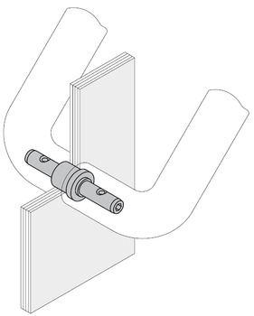 Fastener, Back to Back Mount for Glass Doors