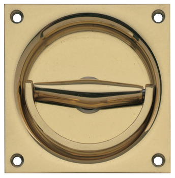 Flush Ring Pull Handle, Brass
